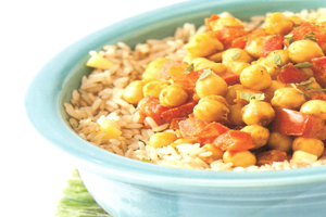 curried chickpeas plant based diet recipe